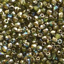 True 2mm Fire Polished, Olive Gold Rainbow - 50